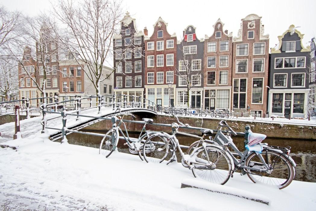 Amsterdam'da Kış